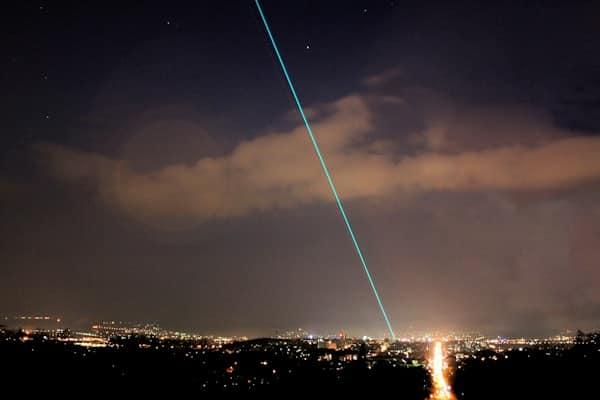 Laser Skybeam Nachthimmel Event