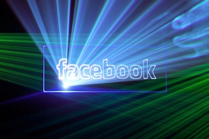 Facebook Logo Lasershow