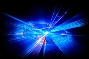 Lasergrafik Corvette Effektbeleuchtung