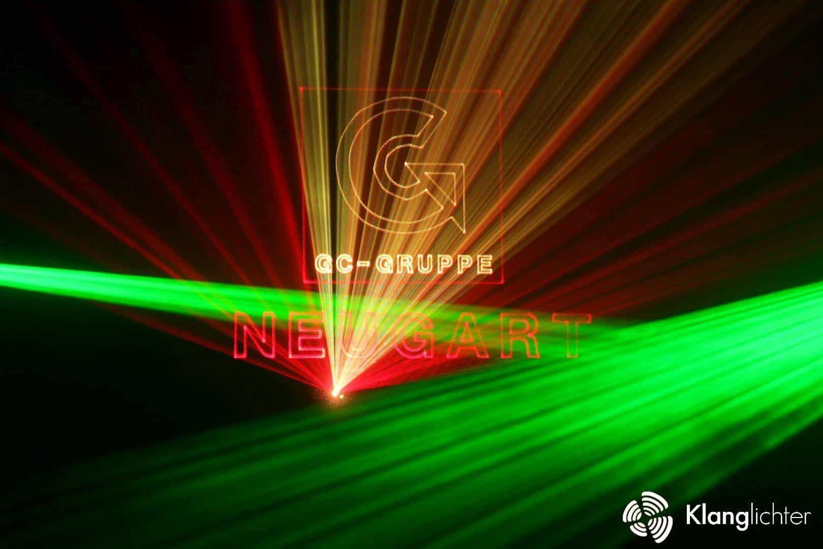 CORPORATE Lasershow: Jubiläumslasershow zur Gala 50 Jahre Neugart