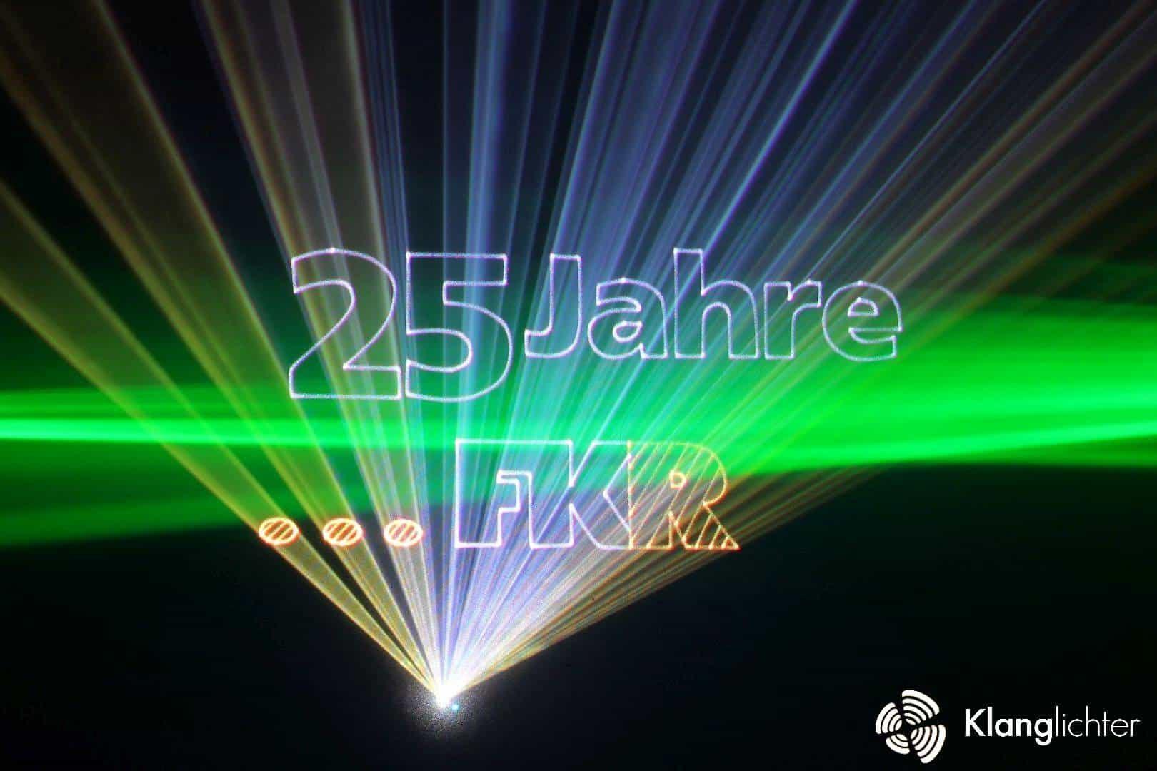 CORPORATE Lasershow: Jubiläumsfeier 25 Jahre FKR Regeltechnik