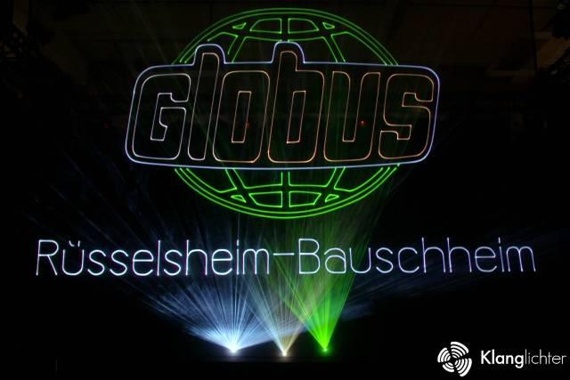 PROFESSIONAL Lasershow: Eröffnungsfeier des Globus in Rüsselsheim-Bauschheim