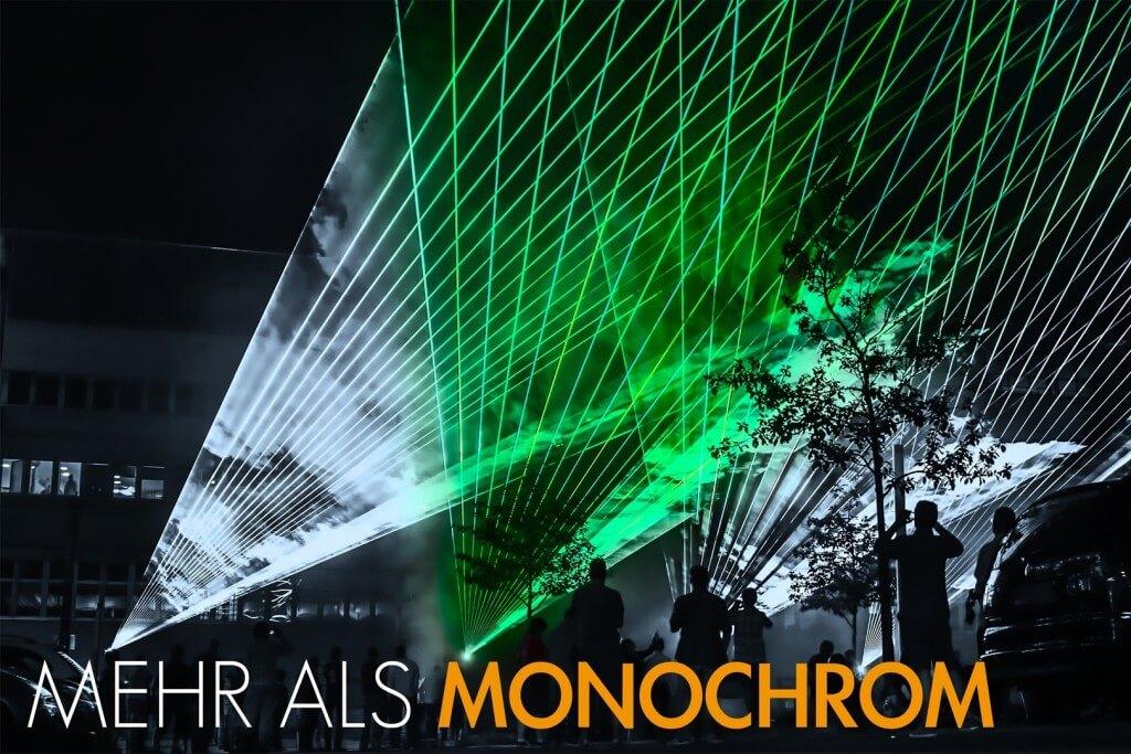 Outdoor Lasershow unter freiem Himmel
