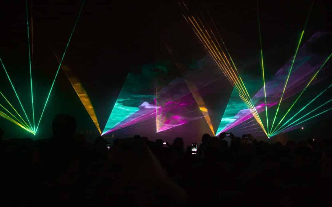 Silvester Lasershow statt Feuerwerk in Verl