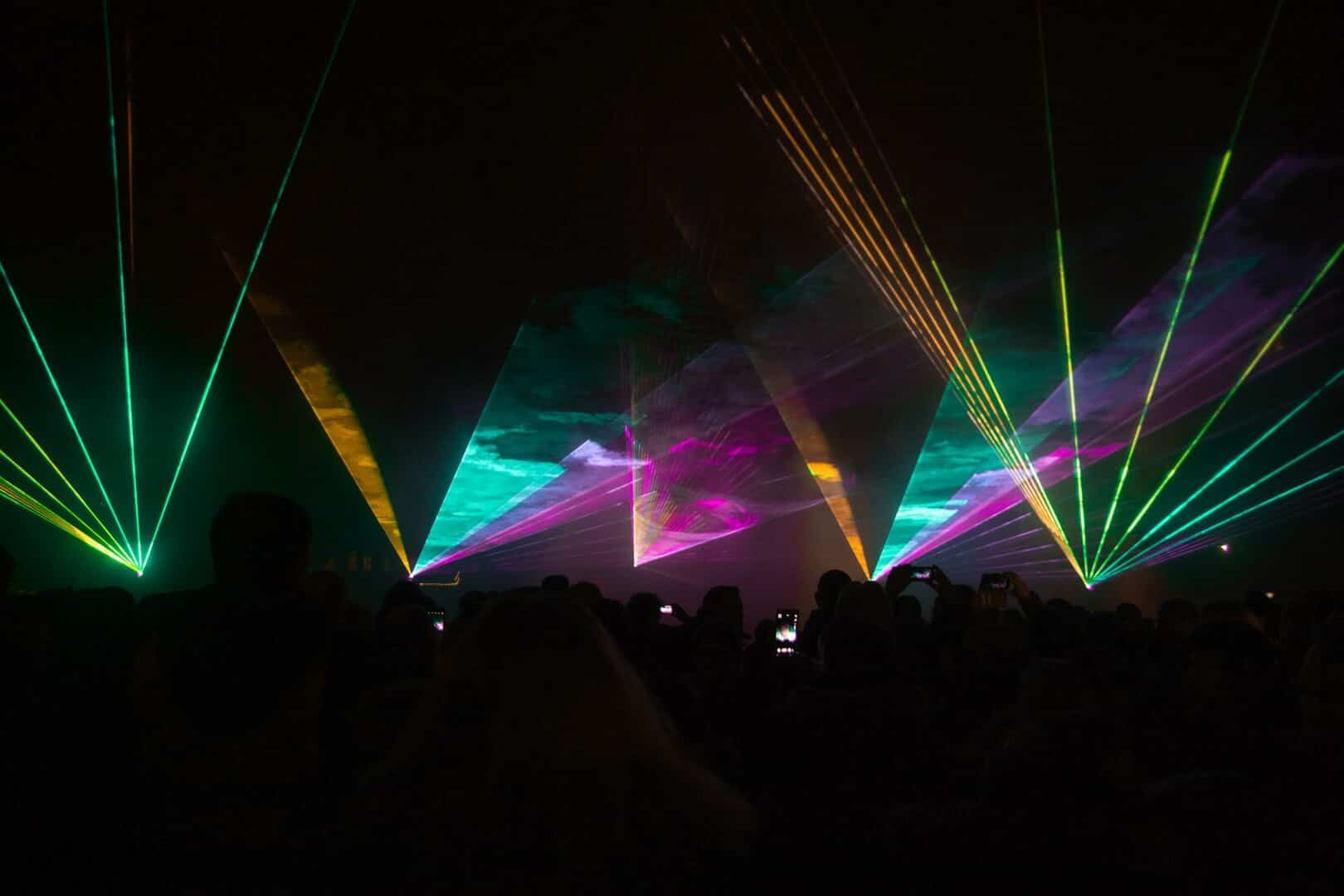 Lasershow zu Silvester in Verl