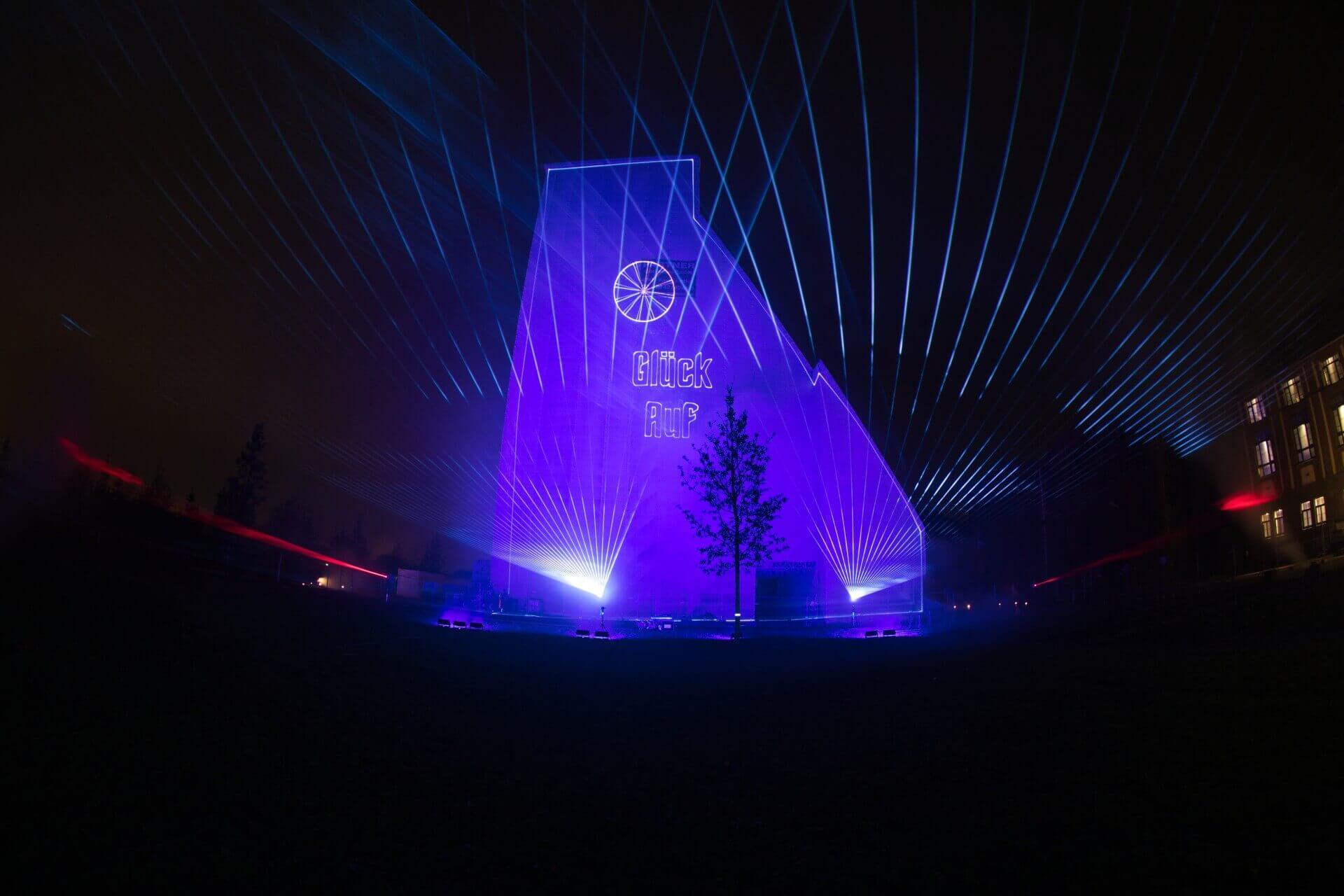 Lasershow zum Stadtfest