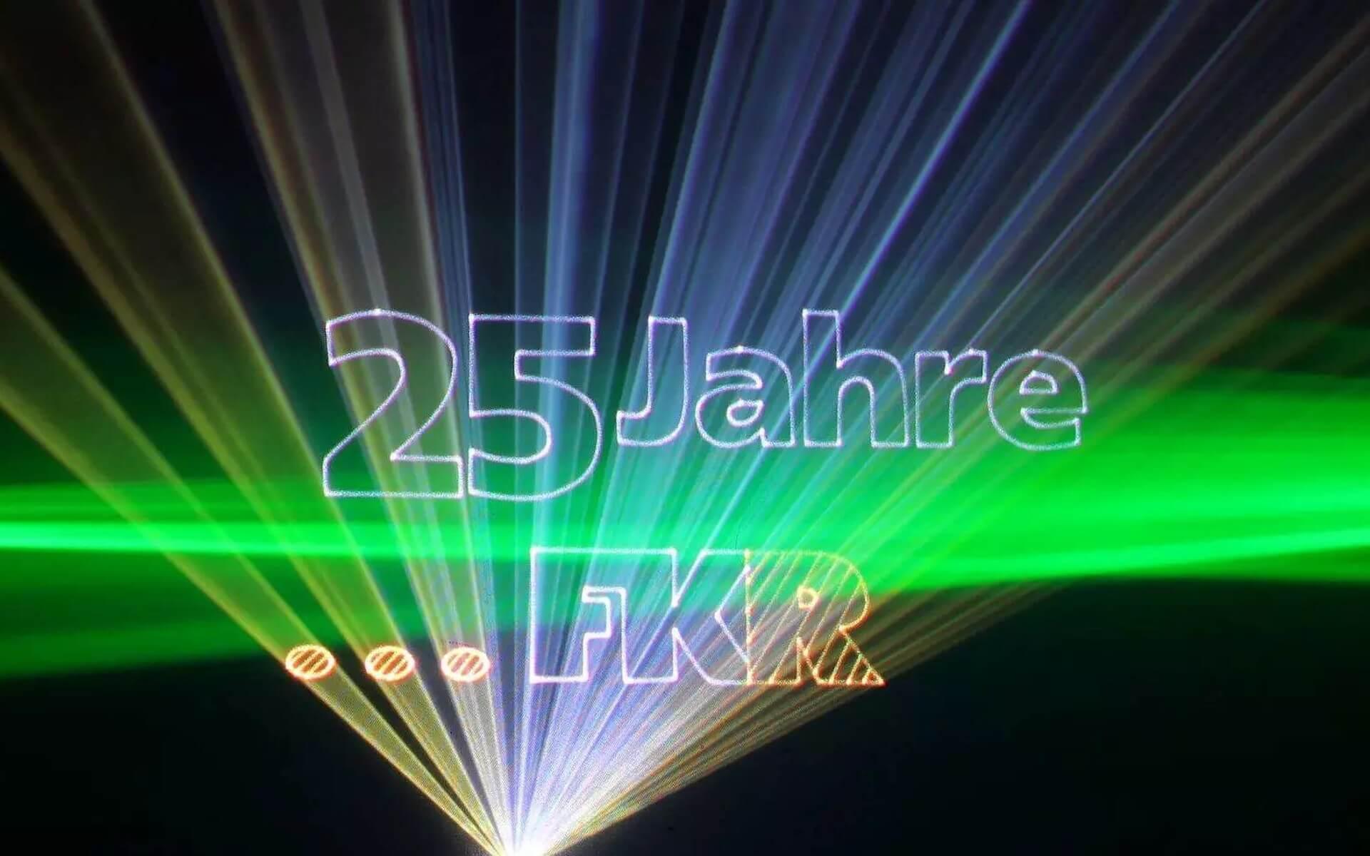 Grafik Lasershow für ein Firmenjubiläum