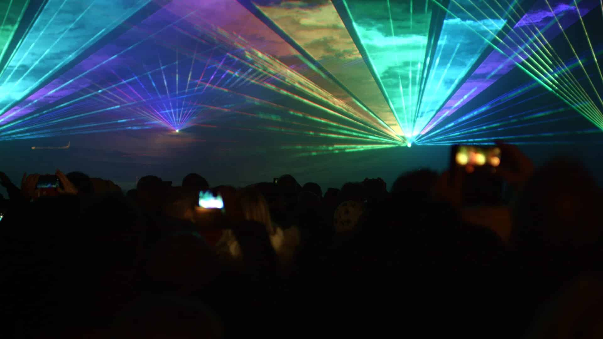 Lasershow an Silvester in Verl: Beamshow