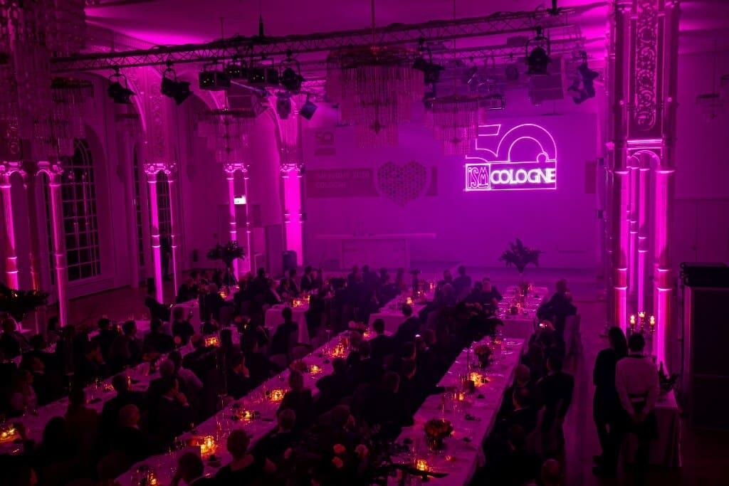 Licht Illumination mit Lasershow zum Firmenjubiläum in Köln