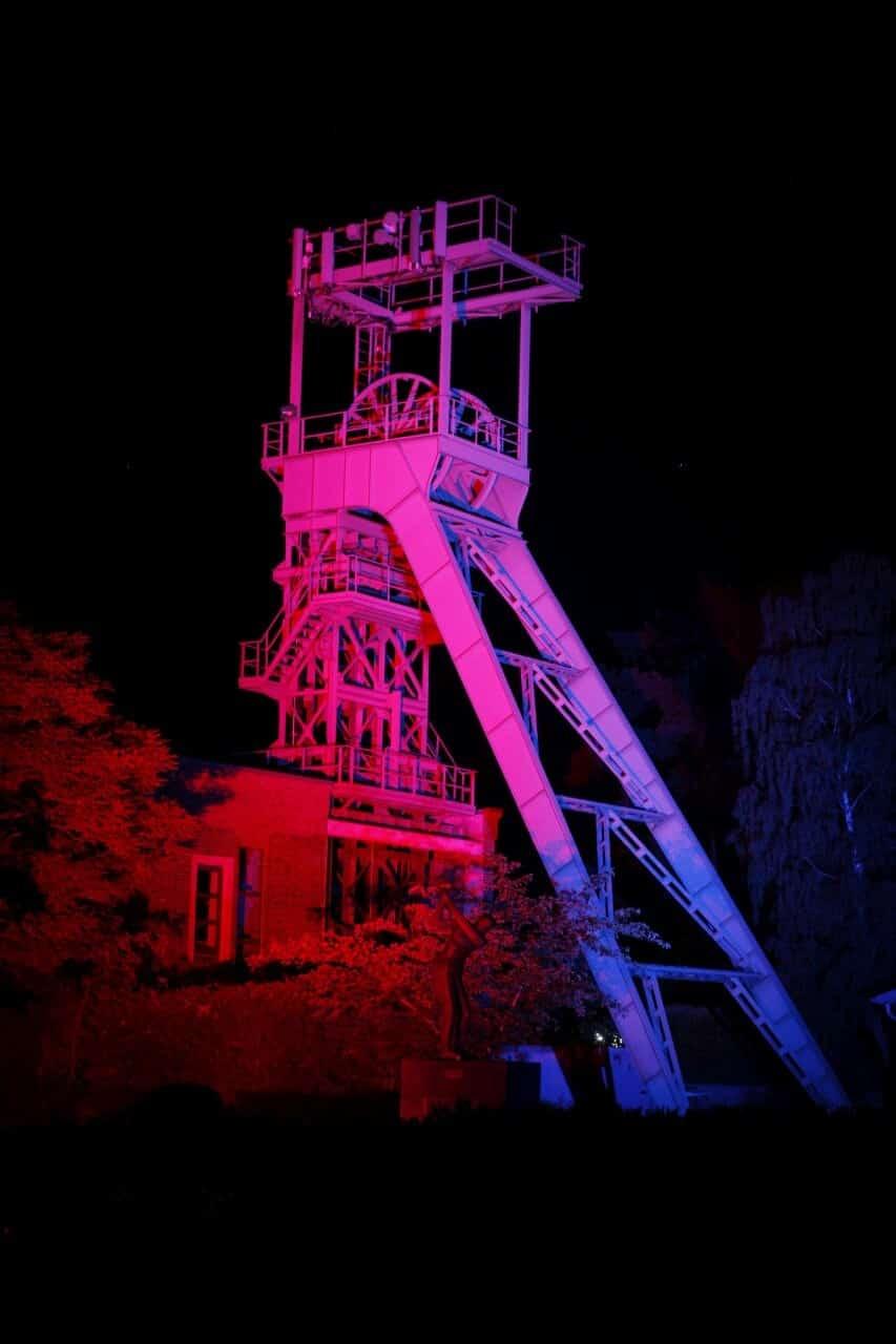 Event Illumination eines Förderturms