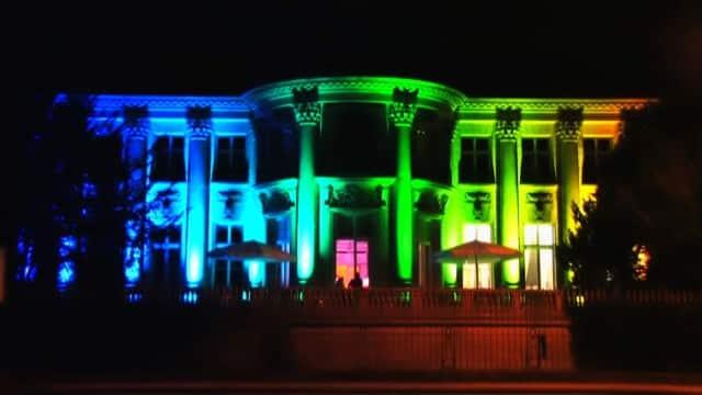 Beleuchtung und Illumination der Villa Köln für einen Event