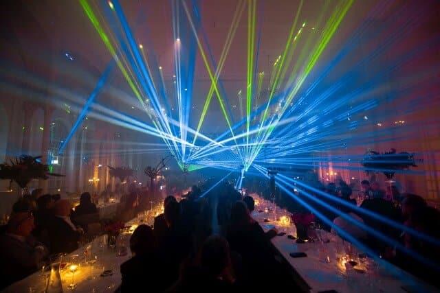 Lasershow zur Jubiläumsfeier in Köln