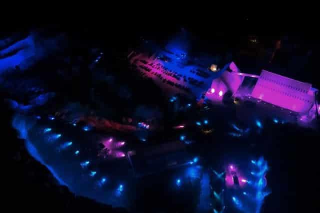 Event Location bei Nacht