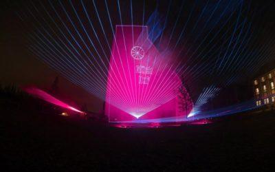 Lasershow und Licht-Illumination erzählen Geschichte von Kamp-Lintfort