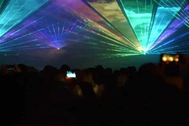 Lasershow an Silvester anstelle Feuerwerk in Verl