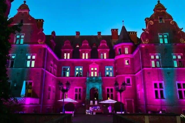 Lichtillumination von Schloss Krickenbeck