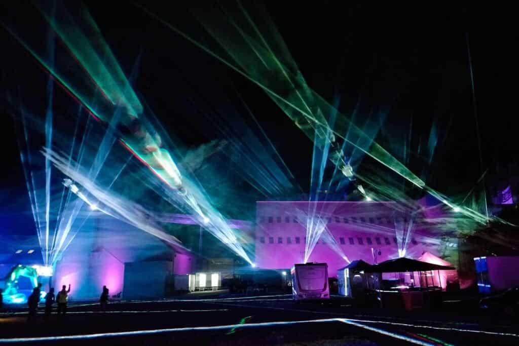 Atmosphärische Lasershow Hamburg