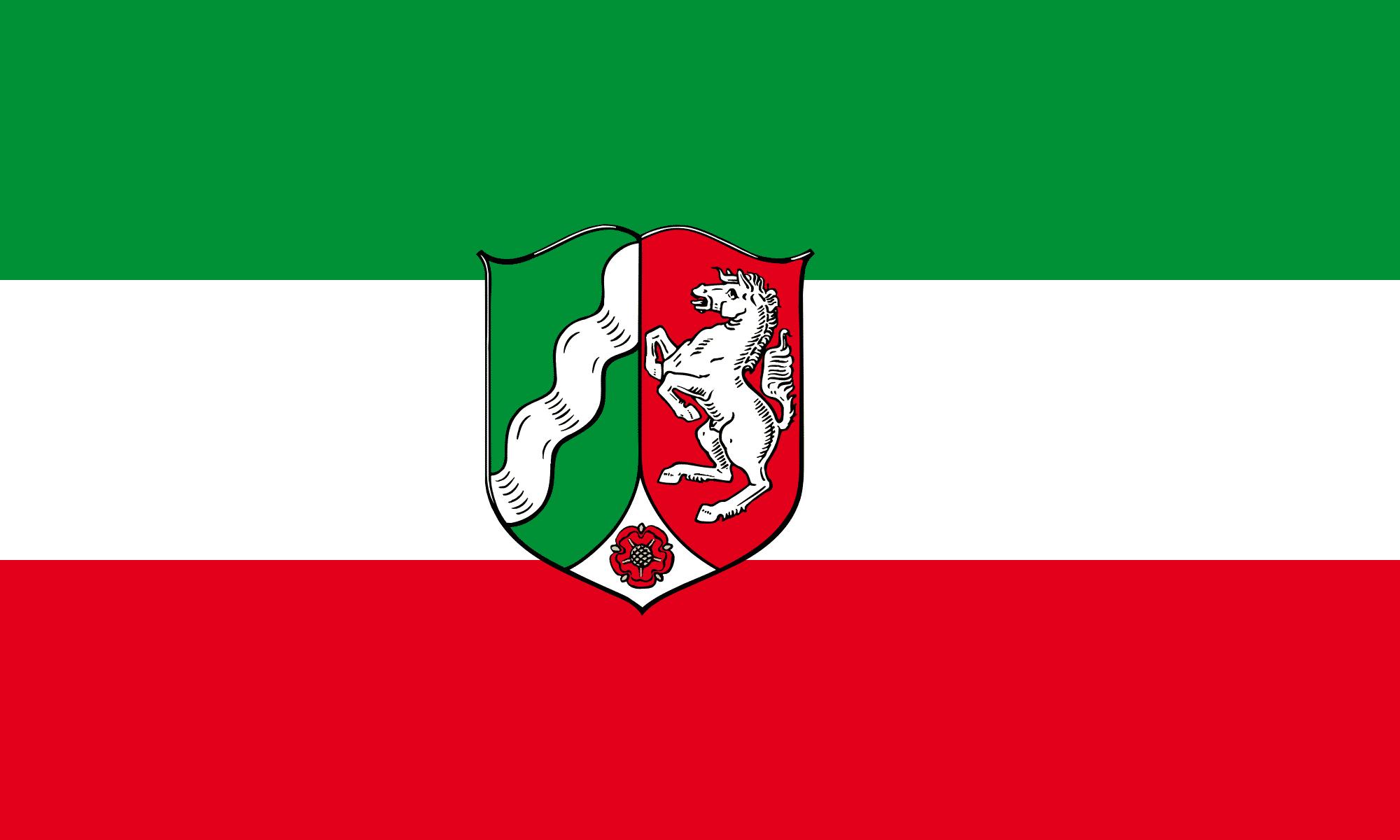 Flagge von Nordrhein-Westfalen (NRW)