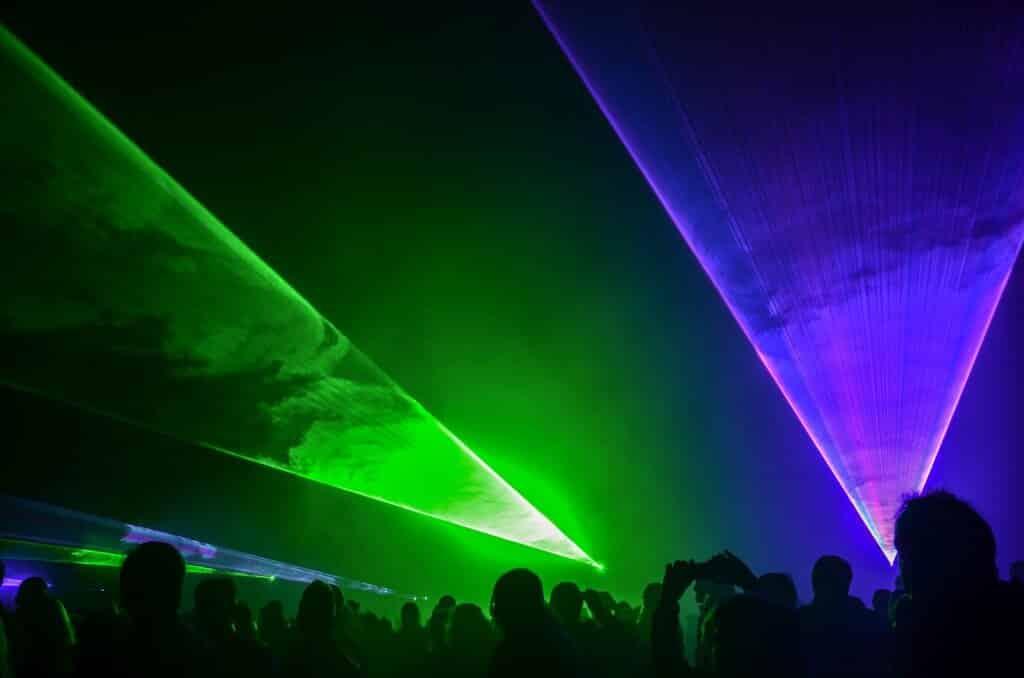 Lasershow zum Stadtfest als Feuerwerks Alternative