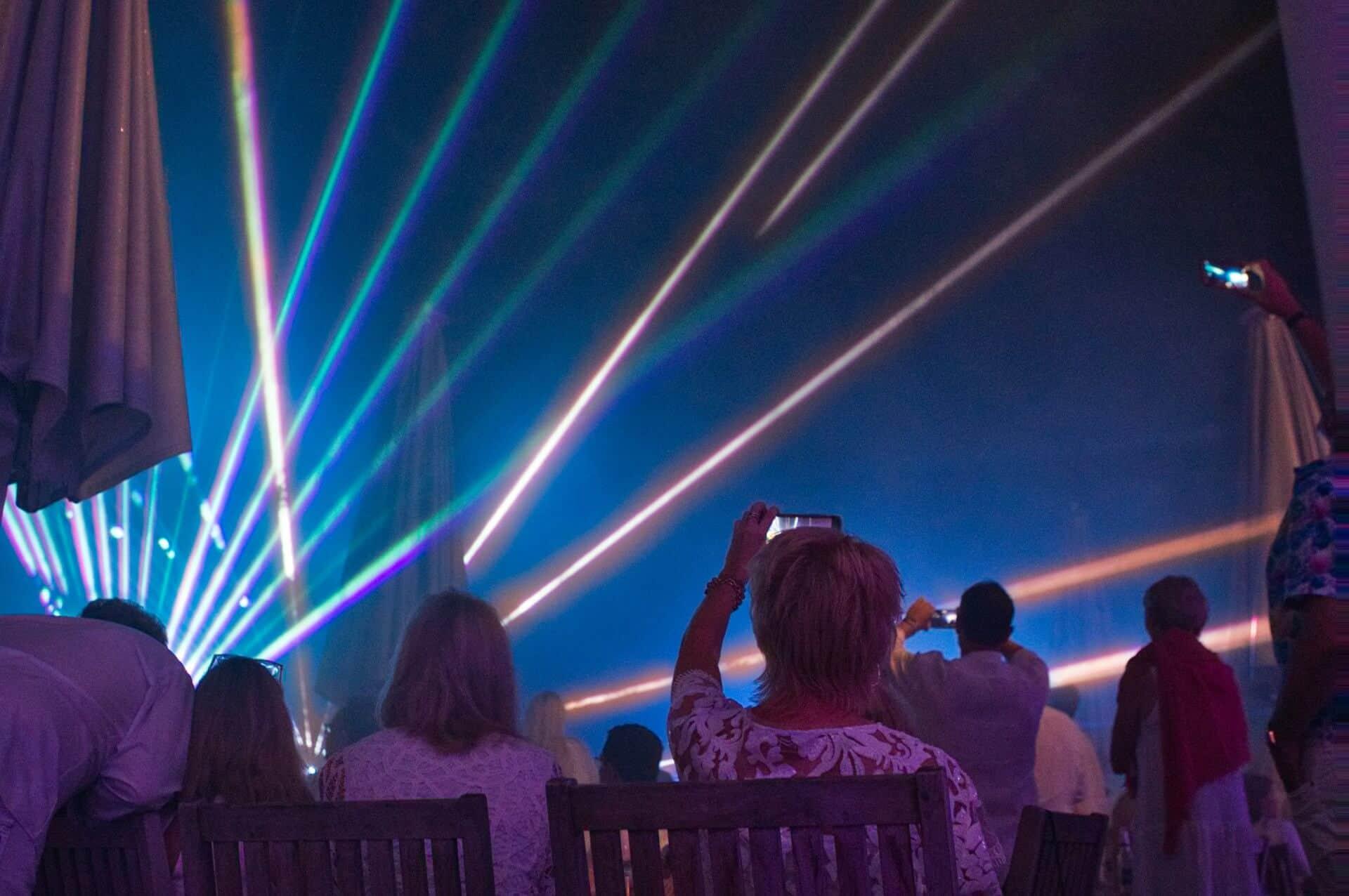 Lasershow auf dem Golfplatz