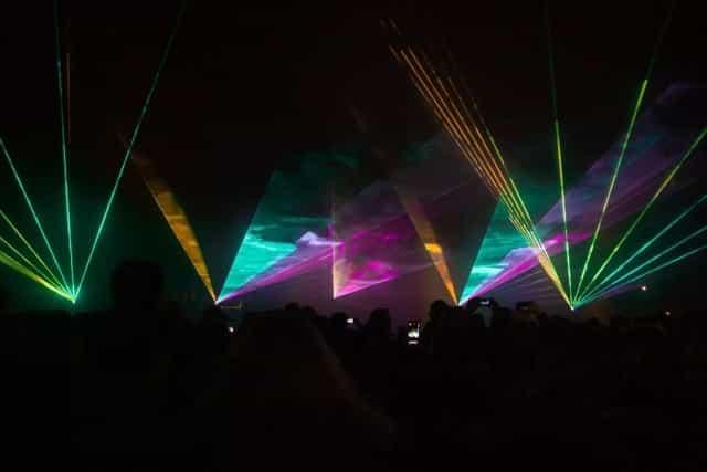 Lasershow zur Silvester in NRW