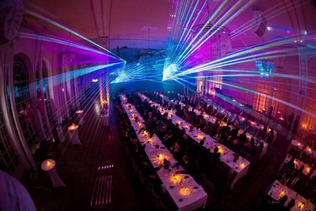 Lasershow zur Firmenfeier für ein Jubiläum in Köln