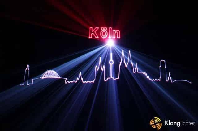 Grafik Lasershow zum Stadtfest